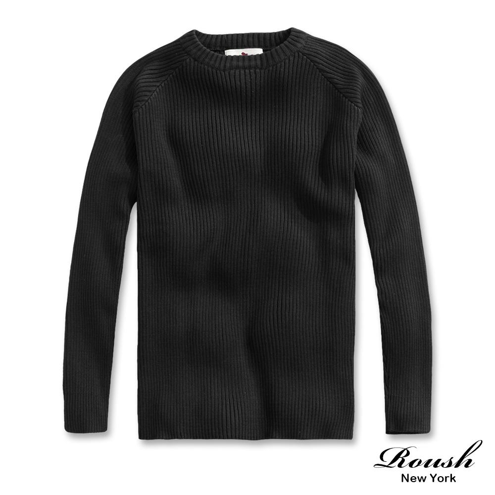 Roush 高磅數立體坑條針織毛衣(2色)