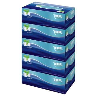 Tempo三層盒裝面紙-冰爽薄荷 86抽x5盒x10串/箱