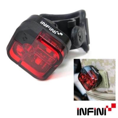 INFINI ARIA I-220R 2段模式背夾設計3LED紅光台灣製自行車後燈/警示燈-黑色