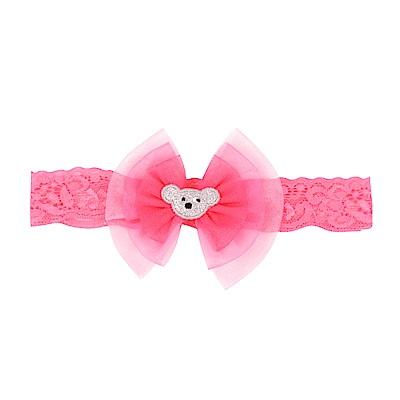 WHY AND 1/2 mini 普普熊雪紡紗髮帶