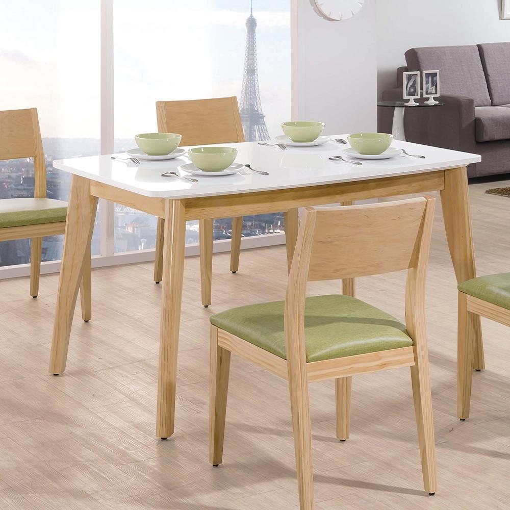 H&D 奧斯卡雙色4.3尺餐桌