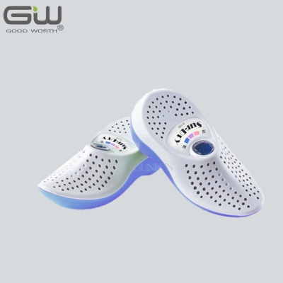 GW水玻璃 藍白色無線式乾鞋除濕機 E-150 一雙