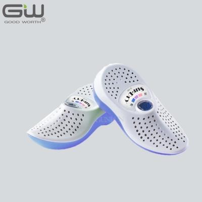 GW水玻璃 藍白色無線式乾鞋除濕機 E-150 三雙組