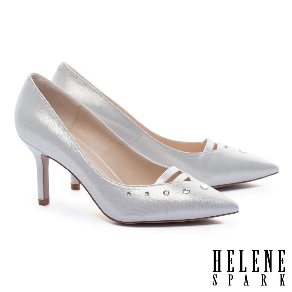 高跟鞋 HELENE SPARK 優雅奢華施華洛水鑽尖頭美型高跟鞋-金