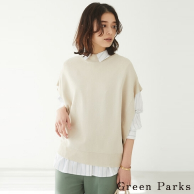 Green Parks 特色剪裁寬袖口背心