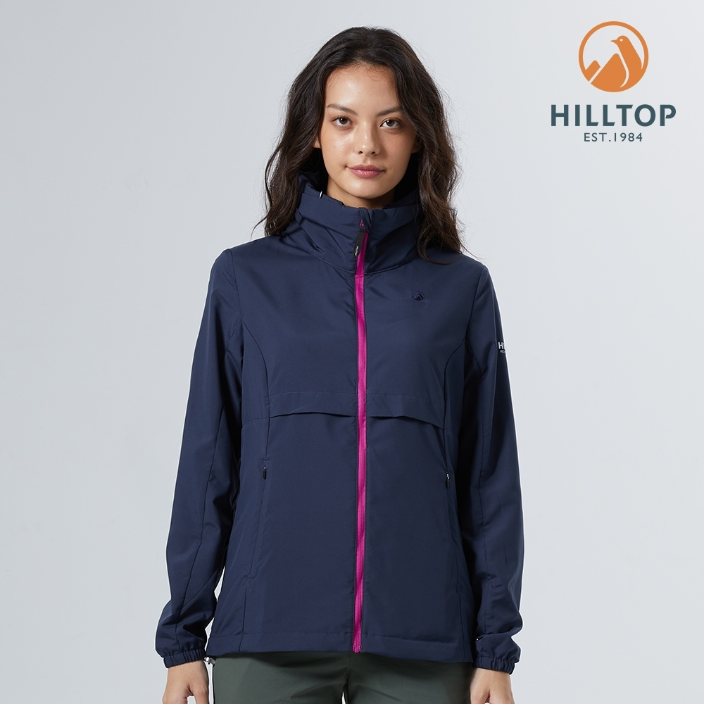 【hilltop山頂鳥】女款GreenOne環保輕量超潑水抗UV外套S02FD9藍