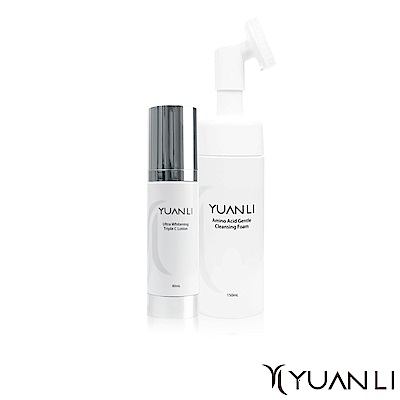 Yuanli 願麗 胺基酸溫柔潔顏慕斯150mL+Triple C極效美白乳80mL