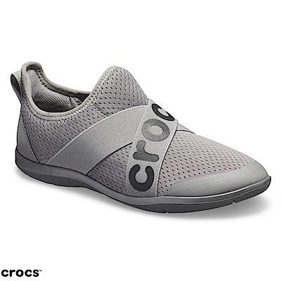 Crocs 卡駱馳 (女鞋) 女士激浪束帶鞋LOGO款 205416-019