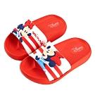 迪士尼童鞋 米妮 立體造型防水拖鞋-紅