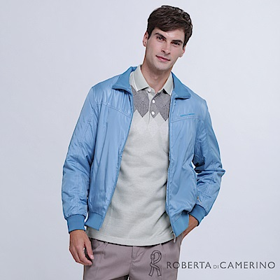 ROBERTA諾貝達 帥氣型男 內裡刷毛夾克外套 藍色