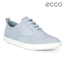 ECCO LEISURE 超柔軟牛皮透氣休閒鞋 女-粉藍
