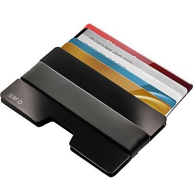 《REFLECTS》鋁製RFID證件夾(黑)