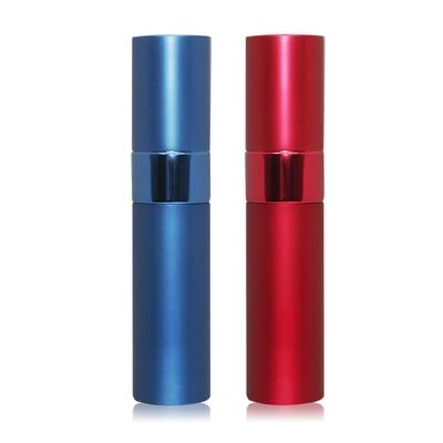 O Pretty 歐沛媞 時尚金屬質感可充式旋轉香水酒精隨身分裝瓶10mlX2-多色可選