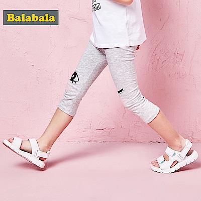 Balabala巴拉巴拉-可愛小圖印花內搭七分褲-女(2色)
