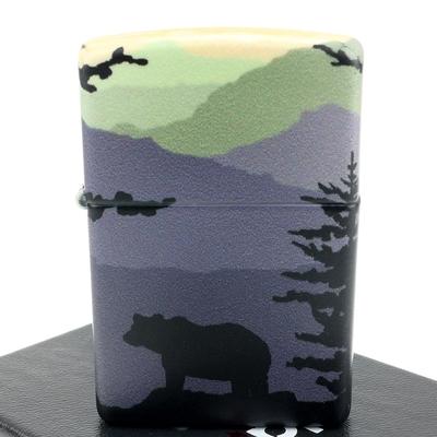 ZIPPO 美系~Bear Landscape-森林熊-540色彩印工法打火機
