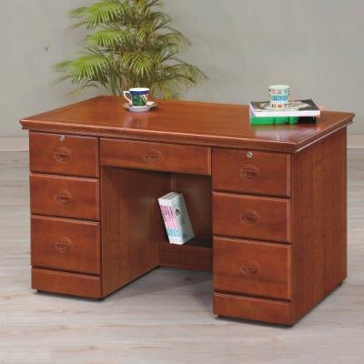 MUNA 實木樟木色4.2尺書桌/辦公桌(123)  126X65X80cm