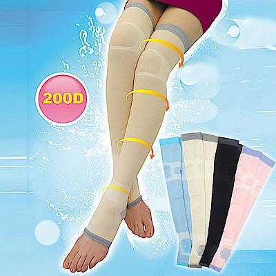 三合豐 ELF 200丹階段壓力涼感日用夜寢完美纖腿露趾彈性襪-2雙