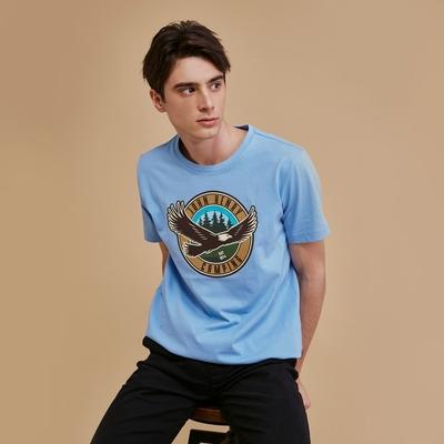【JOHN HENRY】飛鷹印圖短袖T恤-二色