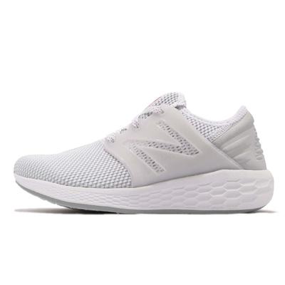New Balance 女慢跑鞋-白-WCRUZRW2-B