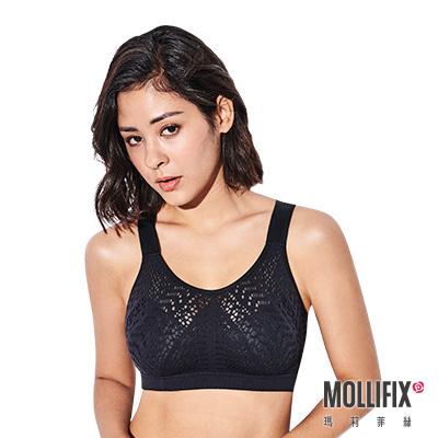Mollifix 瑪莉菲絲 A++穩定升級呼吸BRA (黑)