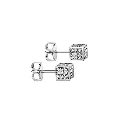 CALVIN KLEIN rocking 系列耳飾-立體方形銀色版
