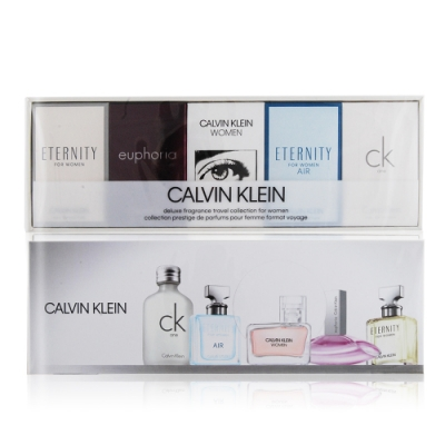 Calvin Klein CK 女性小香禮盒[One+純淨+誘惑+永恆+Women](5mlX3+4ml+10ml)-香水航空版