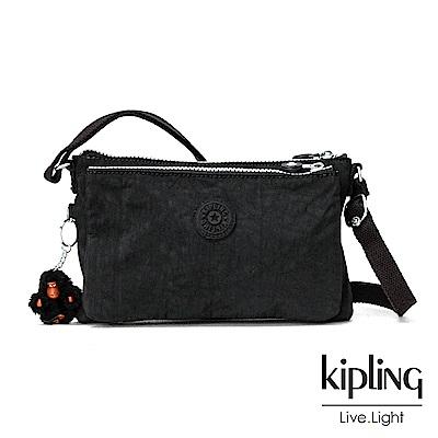 Kipling柏油黑素面側背包(小)