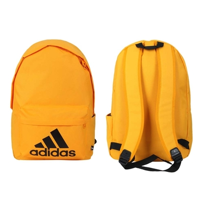 ADIDAS 後背包-雙肩包 肩背包 旅行包 愛迪達 27.5L H34812 橘黑