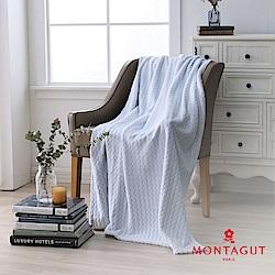 MONTAGUT-法蘭絨保暖毯-藍波浪
