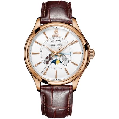 ERNEST BOREL 瑞士依波路錶 公爵系列 玫瑰金月相錶-白色41mm