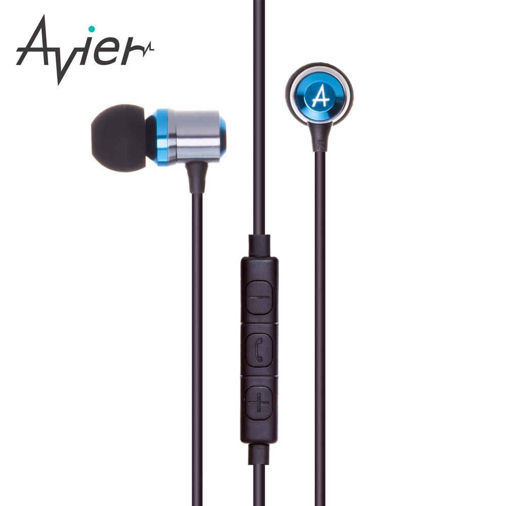 【Avier】炫彩鋁合金入耳式線控耳機 / 三色