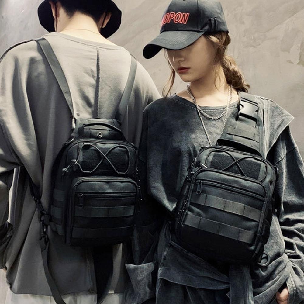 E.City_日系時尚休閒三用胸包背包單肩包