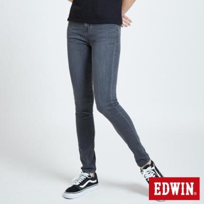 EDWIN EDGE LINE SKINNY 超彈 窄管牛仔褲-女-牛仔灰