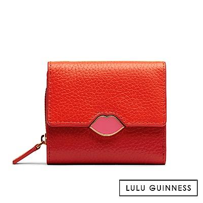 LULU GUINNESS SAFFIE 短夾 (橘紅)