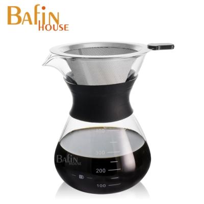 Bafin House 不鏽鋼雙層濾網手沖咖啡壺400ml