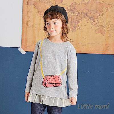 Little moni 網紗拼接上衣(兩色可選)