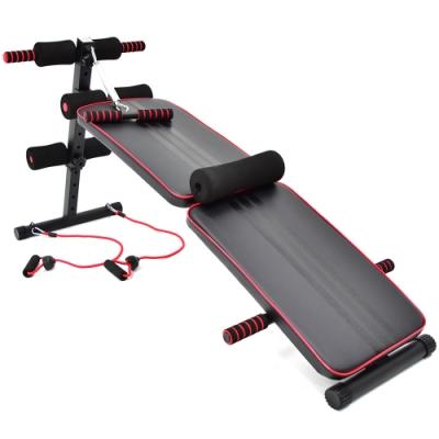 加長款仰臥起坐板(送彈力繩+防護墊) 仰板健腹機-(快)
