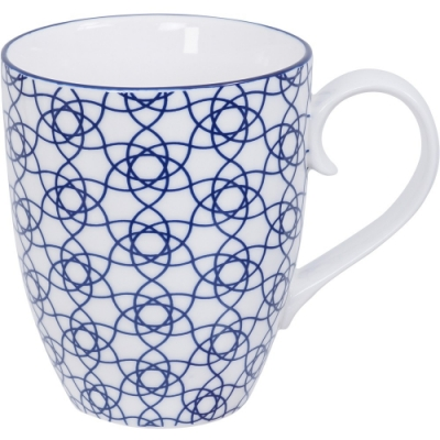 《Tokyo Design》瓷製馬克杯(花繩藍325ml)