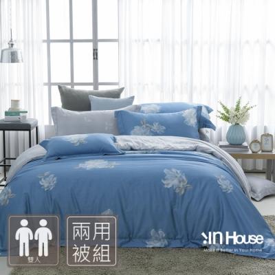 IN-HOUSE-白花河岸-500織紗匹馬棉兩用被床包組(雙人)
