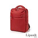 法國時尚Lipault 經典筆電後背包-15吋(寶石紅)