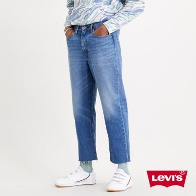Levis 男款 Stay loose 復古寬鬆版繭型牛仔褲 創新寒麻纖維 褲管收邊裁剪 及踝款