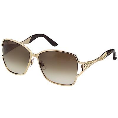 SWAROVSKI 金屬水鑽 太陽眼鏡-金色-SW64 @ Y!購物