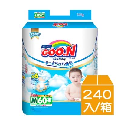 大王GOO.N輕薄舒爽紙尿布黏貼型M 60片x4包/箱
