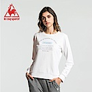 le coq sportif 法國公雞牌運動毛圈圓領大學T恤 女-白