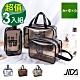 JIDA 360°耐磨防水厚款半透明盥洗包/化妝包3入(小+中+大) product thumbnail 2