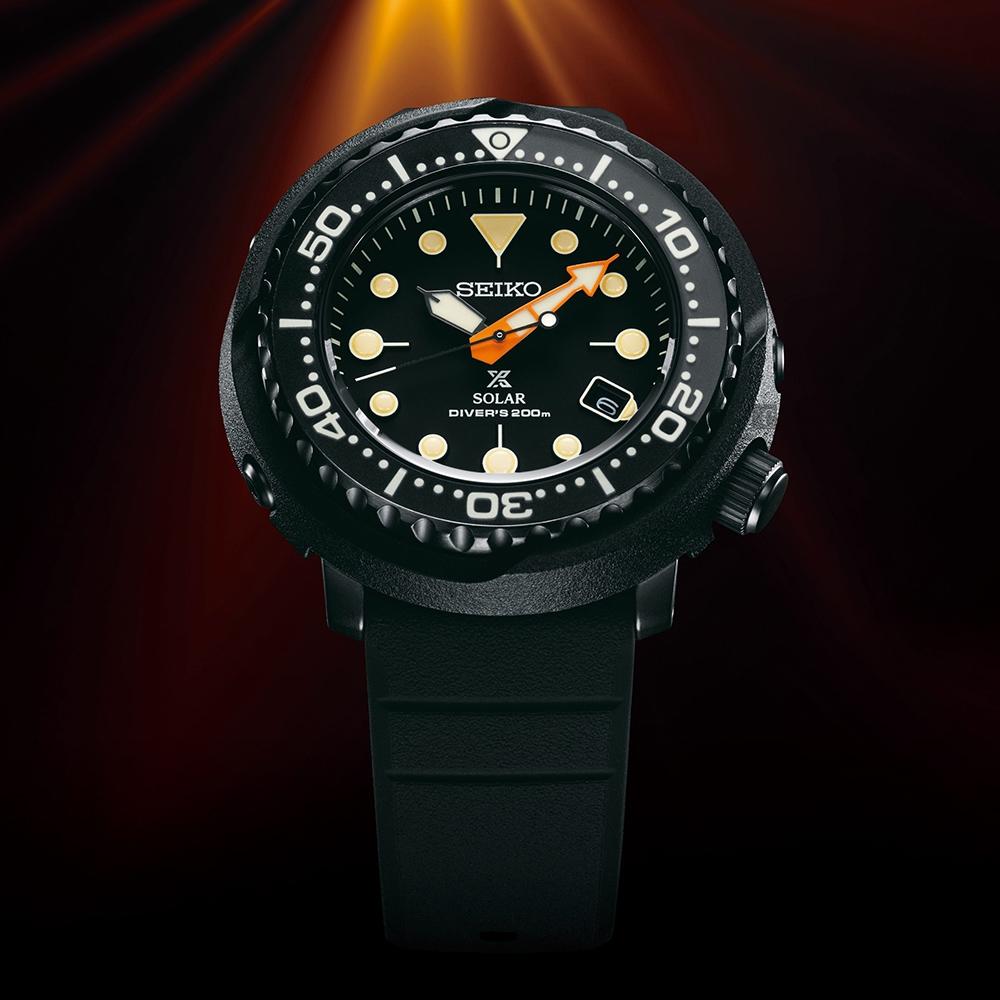 SEIKO 精工 PROSPEX 夜潛金槍魚 限量太陽能潛水錶(SNE577P1/V157-0DL0C)-46.7mm