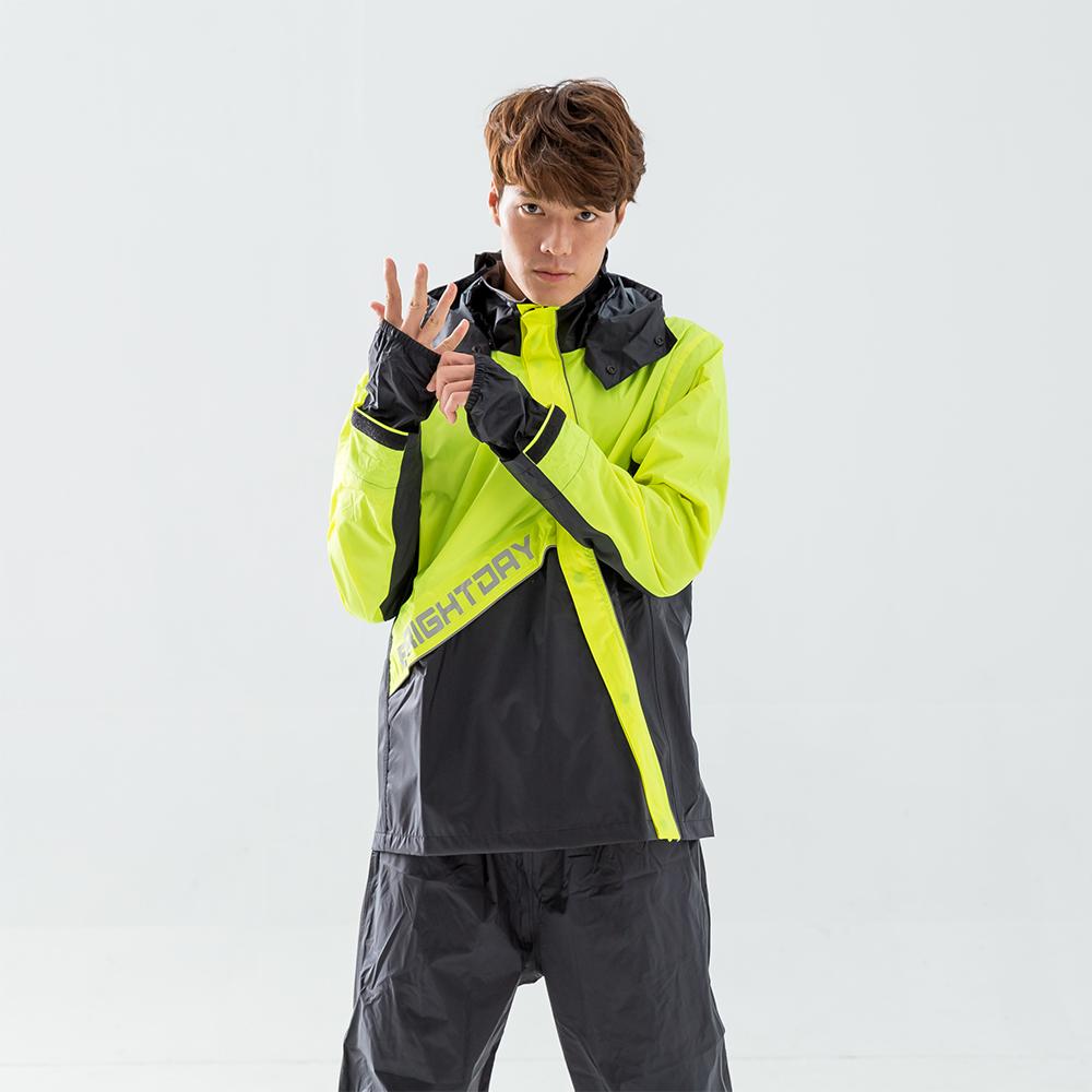 BrightDay-X武士斜開兩件式風雨衣