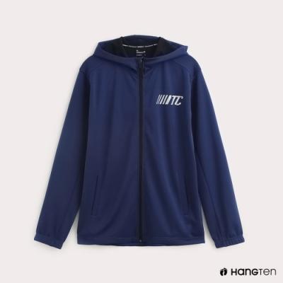 Hang Ten-ThermoContro-男裝機能連帽撞色外套-藍