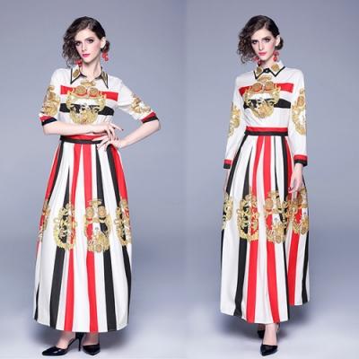 【KEITH-WILL】玩美潮流宮廷風修身洋裝-1色