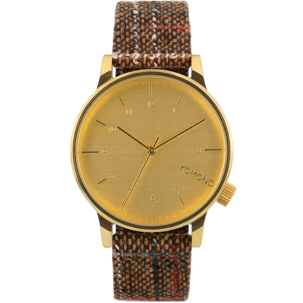 KOMONO Winston Tweed 腕錶-布朗斜紋軟呢/41mm